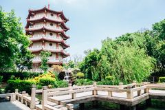 Baguashan Buddhatempel i Changhua, Taiwan Royaltyfri Foto