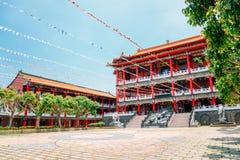 Baguashan Buddhatempel i Changhua, Taiwan Arkivbilder