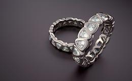 Bague à diamant Photographie stock