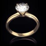 Bague à diamant brillante de luxe avec le chemin de découpage Photo libre de droits