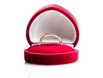 Bague à diamant dans une boîte de velours Image stock