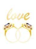 Bague à diamant et amour Photos stock