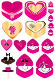 Bague avec amour Box_eps Illustration Stock