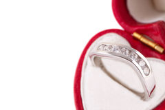 Bague de fiançailles Photographie stock libre de droits