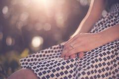 Bague de fiançailles Images stock