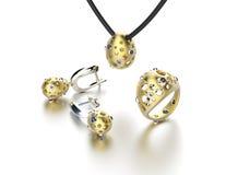 Bague de fiançailles d'or avec le diamant Photos stock
