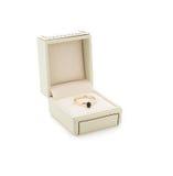 Bague de fiançailles dans le boîte-cadeau Photos libres de droits