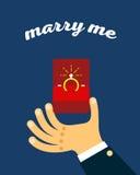 Bague de fiançailles dans le cadre illustration stock