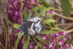 Bague de fiançailles de noces de diamant Images stock