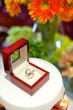 Bagues à diamant pour l'engagement Image stock