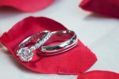 Bagues de fiançailles Photographie stock