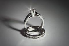 Bagues de fiançailles Image stock