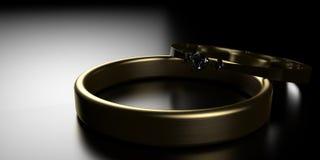 Bagues de fiançailles Images libres de droits
