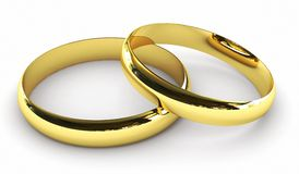 Bagues de fiançailles Photos libres de droits