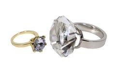 Bagues de fiançailles de diamant Photos stock