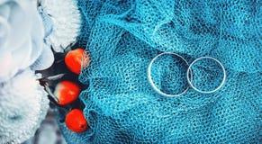 Bagues de fiançailles de mariage photographie stock libre de droits