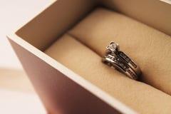 Bagues de fiançailles réglées Photographie stock