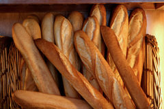 Baguette_6715. French loaves for sale in a bakery stock photography