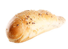 Baguette. On the white background Stock Images