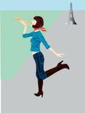 Baguette-amante Stock de ilustración