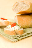Baguette with Appetizer Stock Images