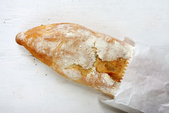 Baguette in a Bag Stock Photography