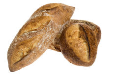 Baguette and batard loaves Stock Photo