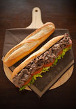Baguette beef meat Stock Photos