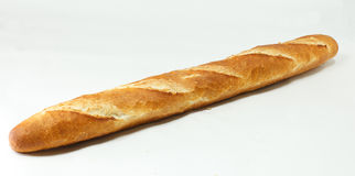 Baguette Bread. Organic fresh and sliced  wheat baguette Stock Images