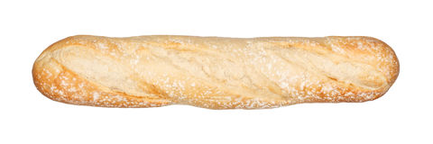 Baguette Bread. French baguette bread isolated on white Royalty Free Stock Photography