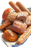 Baguette bread and baked biscuits Stock Photos