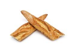 Baguette bread folded cross Stock Photography