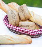 Baguette and bread Stock Photo