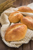 Baguette or bread on napkin Royalty Free Stock Photos