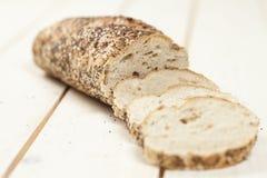 Baguette bread sliced Stock Photo