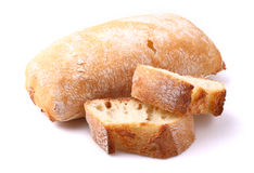 Baguette bread on a white Stock Image