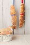 Baguette breads Stock Photography
