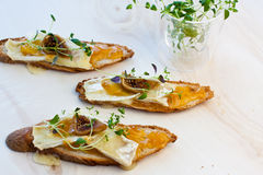 Baguette brie Royalty Free Stock Image