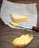 Baguette  and brie cheese Stock Images