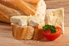 Baguette with chees Royalty Free Stock Photo