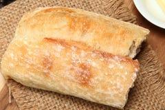 Baguette Chlebowy kawałek Zdjęcia Royalty Free