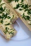 Baguette con mantequilla Foto de archivo libre de regalías