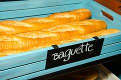 Baguette de pain français Photos stock