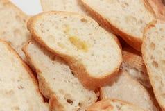 Baguette del francese della fetta Fotografia Stock