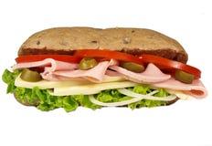 Baguette del jamón Imagen de archivo