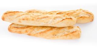 3 baguette del pane tre tipiche della Francia fotografia stock libera da diritti