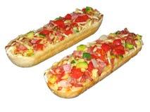 Baguette della pizza Fotografia Stock Libera da Diritti