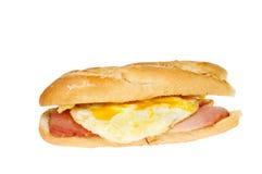 Baguette do bacon do ovo imagem de stock