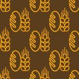 Baguette et une oreille de blé Image libre de droits