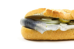 Baguette with fish Royalty Free Stock Photos